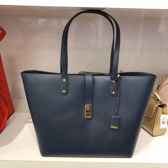 eca35e6f6118 Michael Kors Bags | Nwt Karson L Navy Pebbled Leather | Poshmark